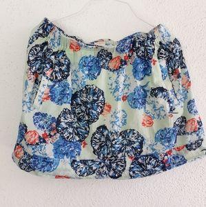 😁J.CREW Floral Skirt
